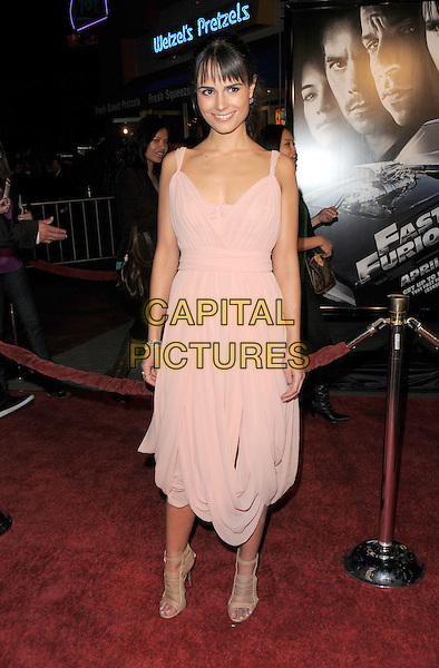 "JORDANA BREWSTER.World Premiere of ""Fast & Furious"" held at Gibson Ampitheatre in Universal City, California, USA. .March 12th, 2009                                                                     full length pink dress beige strappy sandals .CAP/DVS.©Debbie VanStory/Capital Pictures."