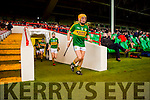 Kerry captain John Griffin leads the team out against  Limerick during their Munster cup clash  in the Gaelic Grounds on Sunday