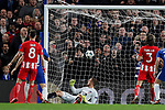 Chelsea score through an own goal by Savic during the Champions League Group C match at the Stamford Bridge, London. Picture date: December 5th 2017. Picture credit should read: David Klein/Sportimage