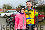 Linda and Steven O'Sullivan from Ardfert after completing the Jimmy Duffy Memorial Cycle on Saturday.