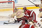 Corinne Boyles (BC - 29), Gina McDonald (Harvard - 10) - The Boston College Eagles defeated the visiting Harvard University Crimson 3-1 in their NCAA quarterfinal matchup on Saturday, March 16, 2013, at Kelley Rink in Conte Forum in Chestnut Hill, Massachusetts.