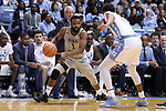 CHAPEL HILL, NC - DECEMBER 30: Wake Forest's Keyshawn Woods. The University of North Carolina Tar Heels hosted the Wake Forest University Demon Deacons on December 30, 2017 at Dean E. Smith Center in Chapel Hill, NC in a Division I men's college basketball game. UNC won the game 73-69.