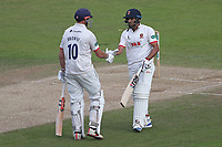 Nick Browne and Ravi Bopara of Essex enjoy a useful partnership for Essex during Nottinghamshire CCC vs Essex CCC, Specsavers County Championship Division 1 Cricket at Trent Bridge on 1st July 2019