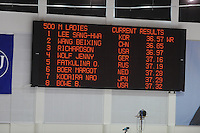 SCHAATSEN: SALT LAKE CITY: Utah Olympic Oval, 15-11-2013, Essent ISU World Cup, 500m, results, world record, ©foto Martin de Jong