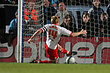 Mark Roberts of Stevenage makes a goal-line clearance. - Wycombe Wanderers v Stevenage - Adams Park, High Wycombe - 31st December 2011  .© Kevin Coleman 2011