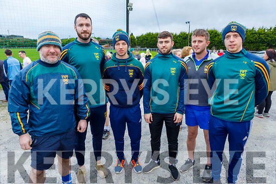 John Mitchells GAA players supporting the Kerrie Browne memorial 5K Walk and Run in Brosna on Sunday.  L to r: Clive O'Callaghan, Michael Wrenn, John Hayes, Jonathan O'Halloran, Cian Sheridan and Lawrence Bastible.