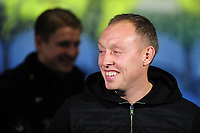 Steve Cooper Head Coach of Swansea City during the Sky Bet Championship match between Huddersfield Town and Swansea City at The John Smith's Stadium in Huddersfield, England, UK. Tuesday 26 November 2019