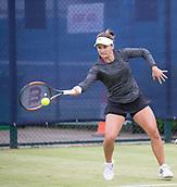 June 13th 2017, Nottingham, England; WTA Aegon Nottingham Open Tennis Tournament day 4;  Forehand from Lauren Davis of USA