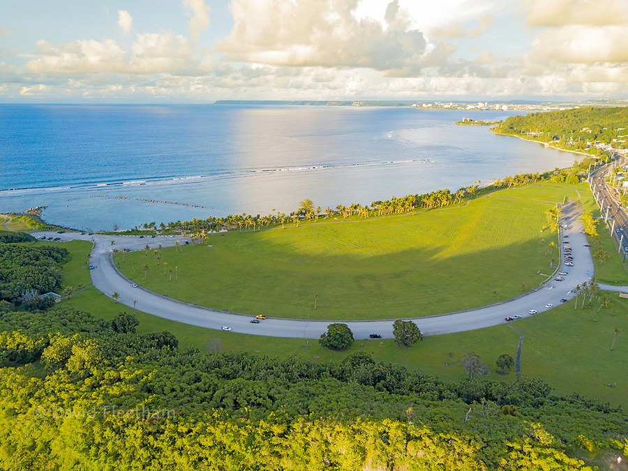 An aerial view of the War in the Pacific National Historical Park, Guam, Micronesia, US Territory, Central Pacific.