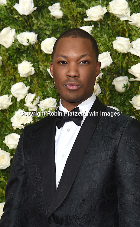 Corey Hawkins attends the 71st Annual  Tony Awards on June 11, 2017 at Radio City Music Hall in New York, New York, USA.<br /> <br /> photo by Robin Platzer/Twin Images<br />  <br /> phone number 212-935-0770
