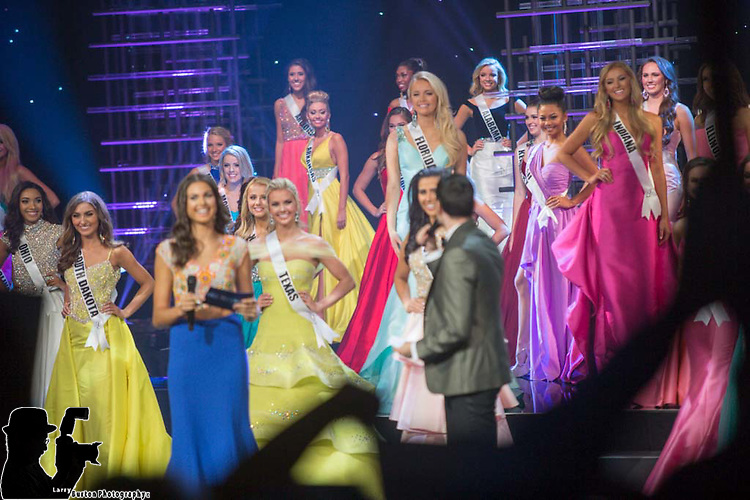 Miss Teen USA Preliminaries at The Venetian Showroom in Las Vegas 2015 winner  Miss Katherine Haik (blue dress)