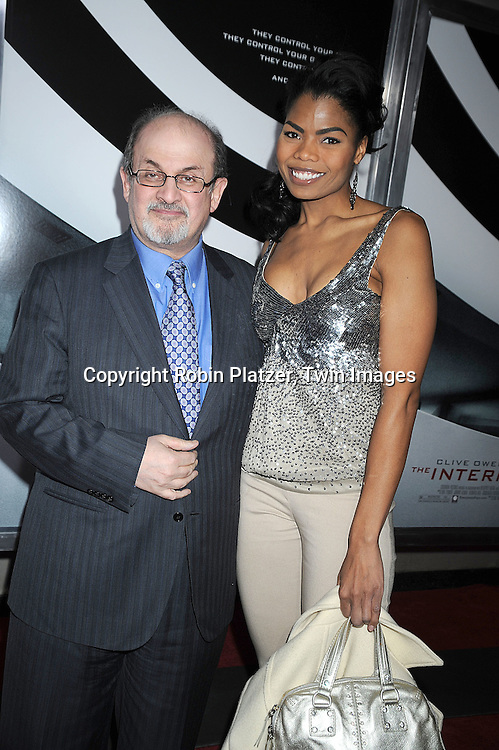 "Salman Rushdie and Pia Glenn..attending The Cinema Society and Columbia Pictures world premiere of ""The International"" on February 9, 2009 at ..the AMC Lincoln Square in New York City. Clive Owens and Naomi Watts are the stars of the movie. ....Robin Platzer, Twin Images"