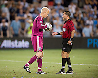 Jimmy Nielsen, Ricardo Salazar. Sporting Kansas City won the Lamar Hunt U.S. Open Cup on penalty kicks after tying the Seattle Sounders in overtime at Livestrong Sporting Park in Kansas City, Kansas.