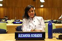 NOVA YORK, EUA, 05.02.2019 - ONU-NOVA YORK - Alejandra Schrader durante encontro para falar sobre a comida no mundo na Sede da Onu em Nova York nesta terça-feira, 05. (Foto: Vanessa Carvalho/Brazil Photo Press)