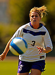 2 September 2007: University of Central Arkansas Sugar Bears' Kacy Covert, a Freshman from Topeka, KS, in action against the University of New Hampshire Wildcats at Historic Centennial Field in Burlington, Vermont. The Wilcats shut out the Sugar Bears 3-0 during the TD Banknorth Soccer Classic...Mandatory Photo Credit: Ed Wolfstein Photo