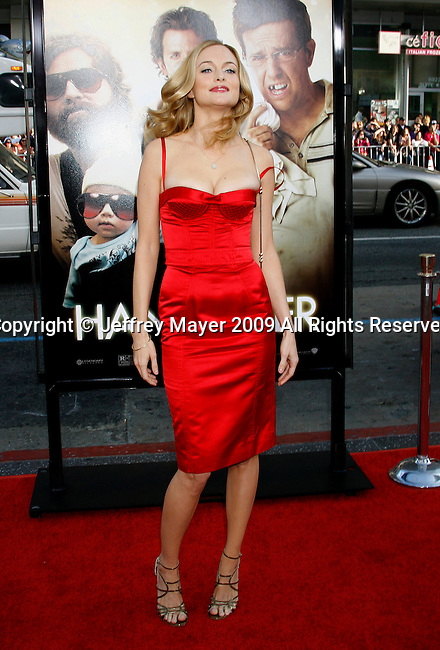 "HOLLYWOOD, CA. - June 02: Actress Heather Graham arrives at the Los Angeles premiere of ""The Hangover"" at Grauman's Chinese Theatre on June 2, 2009 in Hollywood, California."
