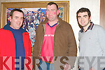 FARMERS: Just some of the large group of farmers who attended the Kerry IFA AGM to vote for a new chairman in the Manor West hotel on Thursday l-r: Lactain Spring Castlemaine, Owen O'Sullivan Currow and Brendan Griffin Keel..