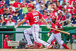 22 June 2014: Washington Nationals pinch hitter Greg Dobbs in action against the Atlanta Braves at Nationals Park in Washington, DC. The Nationals defeated the Braves 4-1 to split their 4-game series and take sole possession of first place in the NL East. Mandatory Credit: Ed Wolfstein Photo *** RAW (NEF) Image File Available ***