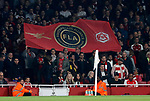 A flag for the football lads alliance during the premier league match at the Emirates Stadium, London. Picture date 25th September 2017. Picture credit should read: David Klein/Sportimage