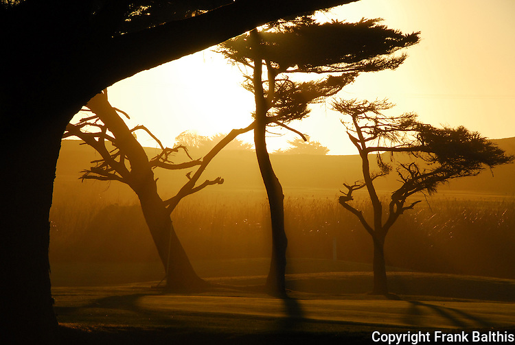 Sunset at Pacific Grove Golf Links