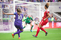 Orlando, FL - Saturday April 22, 2017: Marta  during a regular season National Women's Soccer League (NWSL) match between the Orlando Pride and the Washington Spirit at Orlando City Stadium.