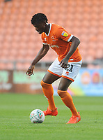 Blackpool's Armand Gnanduillet<br /> <br /> Photographer Kevin Barnes/CameraSport<br /> <br /> The Carabao Cup First Round - Blackpool v Macclesfield Town - Tuesday 13th August 2019 - Bloomfield Road - Blackpool<br />  <br /> World Copyright © 2019 CameraSport. All rights reserved. 43 Linden Ave. Countesthorpe. Leicester. England. LE8 5PG - Tel: +44 (0) 116 277 4147 - admin@camerasport.com - www.camerasport.com