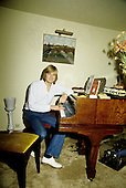 Moody Blues - vocalist Justin Hayward - photographed exclusive at his home in Teddington Middlesex UK - 09 Jul 1980. Photo credit: George Chin/IconicPix