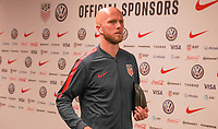 WASHINGTON D.C. - OCTOBER 11: Michael Bradley #4 of the United States walks off the team bus prior to their Nations League game versus Cuba at Audi Field, on October 11, 2019 in Washington D.C.