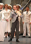 """Joel Grey & Dog Miguelito.Bernadette Peters surprises Joel Grey on his 80th birthday with a cake backstage at """"Anything Goes"""" at the Stephen Sondheim Theatre in New York City on April 11, 2012 © Walter McBride / WM Photography  Ltd."""