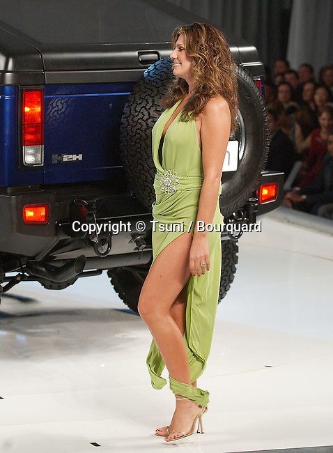 Daisy Fuentes on the runway at the GM and TEN Fashion Show in the heart of Holywood in Los Angeles. February 22, 2005.