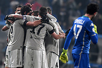 Sami Khedira of Juventus (L) celebrates with team mates  after scoring the goal of 0-1 <br /> Reggio Emilia 10-2-2019 Stadio Mapei, Football Serie A 2018/2019 Sassuolo - Juventus<br /> Foto Andrea Staccioli / Insidefoto