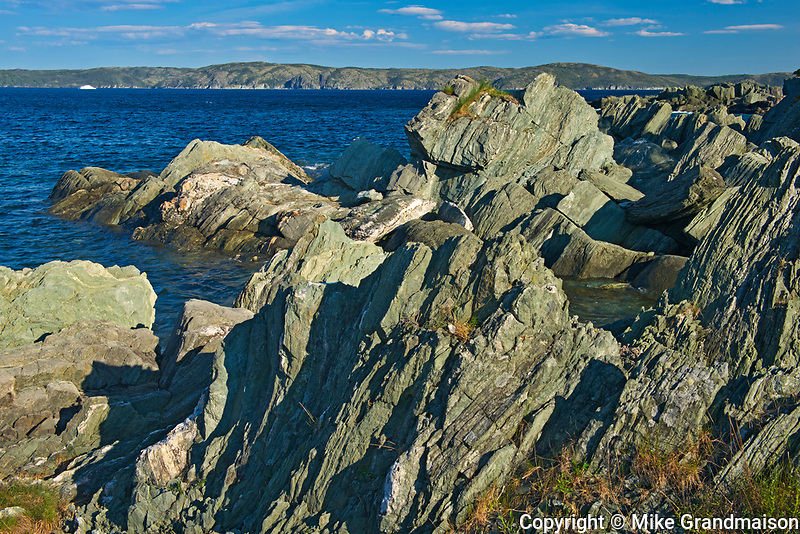 Rocky shoreline along the Atlantic Ocean. Baie Verte Peninsula. <br />