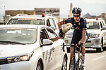 Conor Dunne (IRL) Aqua Blue Sport gets food during Stage 1 of the 2018 Tour of Oman running 162.5km from Nizwa to Sultan Qaboos University. 13th February 2018.<br /> Picture: ASO/Muscat Municipality/Kare Dehlie Thorstad | Cyclefile<br /> <br /> <br /> All photos usage must carry mandatory copyright credit (&copy; Cyclefile | ASO/Muscat Municipality/Kare Dehlie Thorstad)