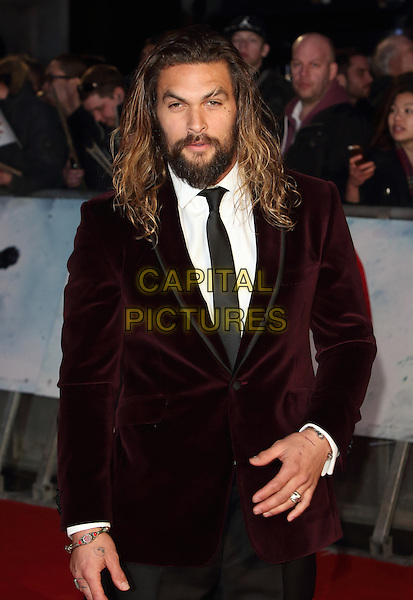 LONDON, ENGLAND - Jason Momoa at the European Premiere of Batman v Superman - the Dawn of Justice, Odeon Leicester Square, London on March 22nd 2016<br /> CAP/ROS<br /> &copy;Steve Ross/Capital Pictures