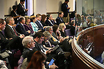 The Assembly gallery is packed as Nevada Gov. Brian Sandoval's Chief of Staff Mike Willden and Economist Jeremy Aguero testify in an Assembly Committee of the Whole hearing at the Legislative Building in Carson City, Nev., on Saturday, May 30, 2015. <br /> Photo by Cathleen Allison