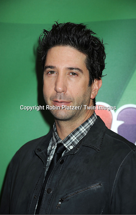 David Schwimmer arrives at the NBC Upfront Presentation for 2013-2014 Season on May 13, 2013 at Radio City Music Hall in New York City.