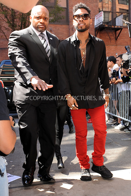 WWW.ACEPIXS.COM<br /> September 16, 2015 New York City<br />  <br /> Miguel arriving to attend Kanye West Fashion Show on September 16, 2015 in New York City<br /> <br /> Credit: Kristin Callahan/ACE<br />  <br /> Tel: 646 769 0430<br /> Email: info@acepixs.com<br /> www.acepixs.com