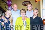 Noreen Titmarsh, nee Looney Killarney, windsor England who celebrated her 60th birthday with her family and friends in Lord kenmares restaurant on Saturday night l-r: Cara, John, Noreen, Greg and Ruth