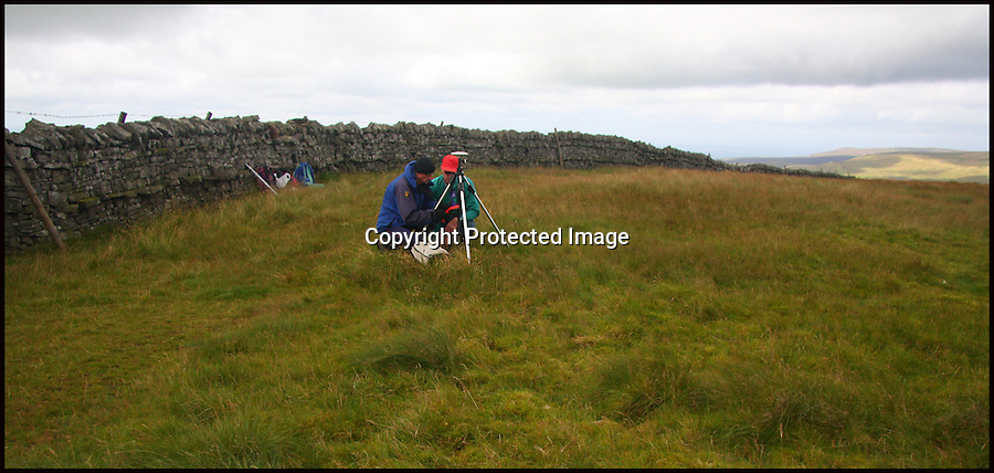 BNPS.co.uk (01202 558833).Pic: MyrddynPhillips/BNPS..***Please Use Full Byline***..Jackson and Barnard on the summit of Thack Moor...Two Englishmen (and a Welshman) went up a hill but came down a mountain.....Three ramblers have elevated an English hill to mountain status after they remeasured it at just three-quarters-of-an-inch above the key height...At 1,998ft, Thack Moor in the Cumbrian Penines fell just 2ft short of being classified as a mountain by official mapmakers the Ordnance Survey...But armed with state-of-the-art GPS technology, intrepid hillwalkers John Barnard, Graham Jackson and Myrddyn Phillips set out to test the well-established listing...On two separate occassions the men ascended to the hill's summit and accurately measured its height at exactly 609.62 metres...The reading topped the magic mountain mark of 2,000ft by just three-quarters-of-an-inch...The Ordnance Survey has checked the new data and has confirmed it will amend its maps and listings, meaning Thack Moor will become England's 254th mountain..