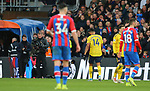 Arsenal's Pierre-Emerick Aubameyang heads towards the tunnel after receiving a red card during the Premier League match at Selhurst Park, London. Picture date: 11th January 2020. Picture credit should read: Paul Terry/Sportimage
