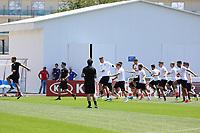 Bundestrainer Joachim Loew (Deutschland Germany) sieht seiner Mannschaft beim Aufwaermen zu- 24.06.2017: Training der Deutschen Nationalmannschaft, Fisht Stadium Sotschi