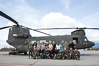 'Zona Hostil' photocall at the FAMET Military Base