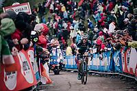 Felix Grossschartner (AUT/BORA-hansgrohe) up the infamous Monte Zoncolan (1735m/11%/10km)<br /> <br /> stage 14 San Vito al Tagliamento &ndash; Monte Zoncolan (186 km)<br /> 101th Giro d'Italia 2018