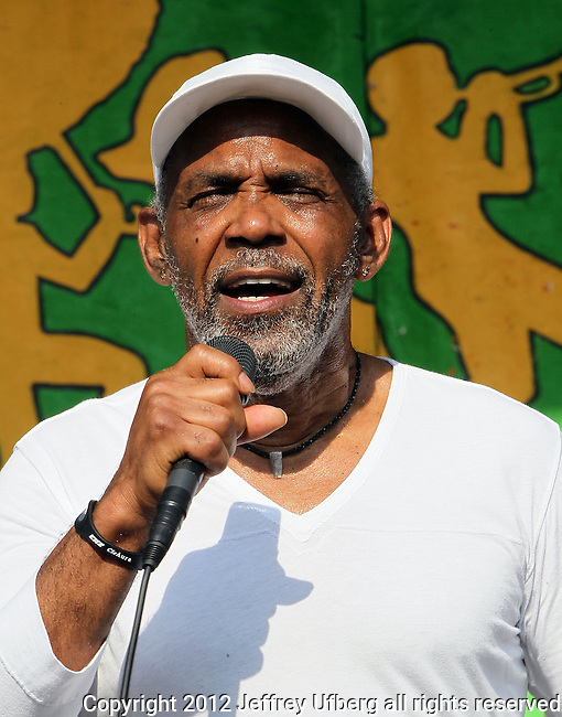 NEW ORLEANS, LA - MAY 06: Singer Frankie Beverly of Maze featuring Frankie Beverly performs during the 2012 New Orleans Jazz & Heritage Festival at the Fair Grounds Race Course on May 6, 2012 in New Orleans, Louisiana.