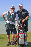 Shane Lowry (IRL) and Brian Martin (caddy) on the 17th during the Pro-Am of the Saudi International at the Royal Greens Golf and Country Club, King Abdullah Economic City, Saudi Arabia. 29/01/2020<br /> Picture: Golffile | Thos Caffrey<br /> <br /> <br /> All photo usage must carry mandatory copyright credit (© Golffile | Thos Caffrey)