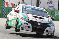 Tiago Monteiro (POR) of JAS Honda Racing, Honda Civic S2000 TC, during FIA WTCC, Circuito da Boavista 2013, in Porto, Portugal on June 29, 2013 (Photo Credits: Paulo Oliveira/DPI) ** NortePhoto.com **