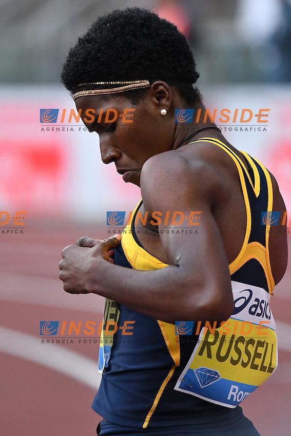 Janeive RUSSEL JAM 400m Hurdles Women Winner<br /> Roma 02-06-2016 Stadio Olimpico <br /> IAAF Diamond League Golden Gala <br /> Atletica Leggera<br /> Foto Andrea Staccioli / Insidefoto