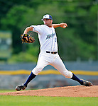19 June 2008: Vermont Lake Monsters pitcher Pat McCoy on the mound against the Oneonta Tigers at historic Centennial Field in Burlington, Vermont. The Tigers defeated the Lake Monsters 13-8 in the rubber match of their three-game season opening series in Vermont...Mandatory Credit: Ed Wolfstein Photo
