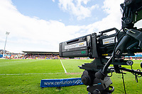 Picture by Allan McKenzie/SWpix.com - 22/04/2018 - Rugby League - Ladbrokes Challenge Cup - York City Knight v Catalans Dragons - Bootham Crescent, York, England - BBC livestream cameras.