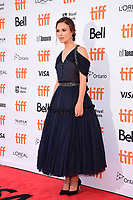 Keira Knightley attends the 'Colette' premiere during 2018 Toronto International Film Festival at Princess of Wales Theatre on September 11, 2018 in Toronto, Canada.<br /> CAP/KNM<br /> &copy;IkonMediia/Capital Pictures